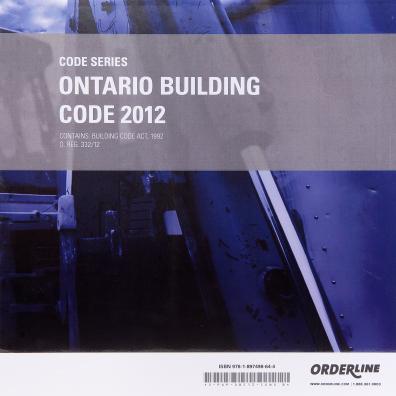 Ontario Building Code 2012 - Binder